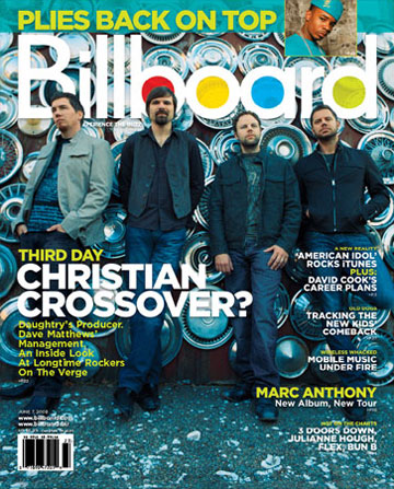 Third Day on Cover of Billboard Magazine!